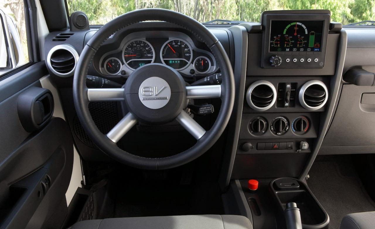 Jeep wrangler ev interior steering wheel jeep ev for Interior wrangler yj