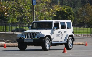 Jeep EV on the track